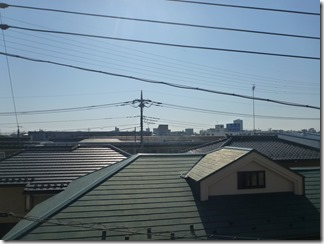 桶川市北O様 東京スカイツリー方向の景色。(完了)