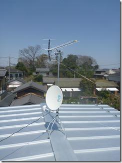 蓮田市見沼町S様 アンテナ工事完了。