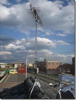 鴻巣市吹上富士見S様 アンテナ工事完了。