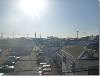 鴻巣市人形S様 東京スカイツリー方向の景色。