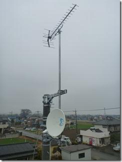 羽生市上新郷T様 アンテナ工事完了。