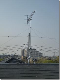 鴻巣市小松T様 アンテナ工事完了。