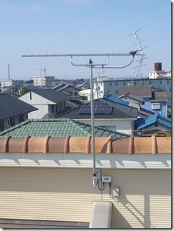 羽生市西T様 アンテナ工事完了。