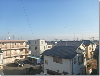 行田市持田T様 東京スカイツリー方向の景色(完了)。