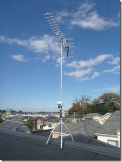 蓮田市見沼町T様 アンテナ工事完了。
