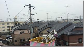 鴻巣市本町T様 東京スカイツリー方向の景色(完了)。