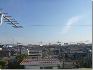 鴻巣市生出塚T様 東京スカイツリー方向の景色。