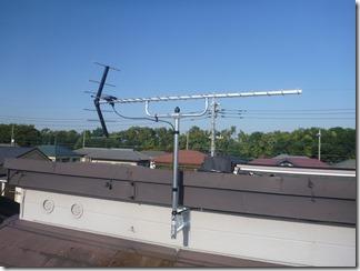鴻巣市赤見台U様 アンテナ工事完了。