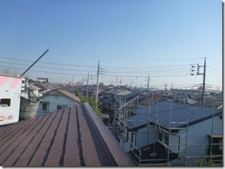 鴻巣市赤見台U様 東京スカイツリー方向の景色(完了)。
