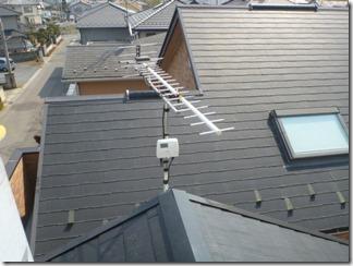 深谷市秋元町Y様 アンテナ工事完了。