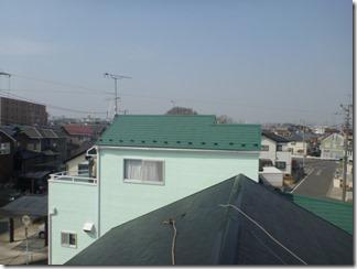 深谷市秋元町Y様 前橋局方向の景色(完了)。
