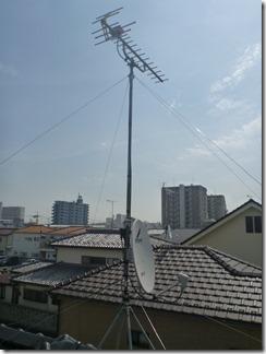 鴻巣市逆川Y様 アンテナ工事完了。
