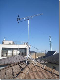 久喜市久喜東S様 アンテナ工事完了。