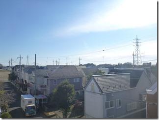 行田市小針N様 東京スカイツリー方向の景色。