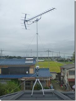 鴻巣市鎌塚H様 アンテナ工事完了。