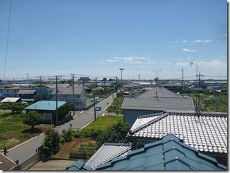 羽生市東K様 東京スカイツリー方向の景色(完了)。