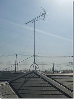 久喜市南栗橋K様 アンテナ工事完了。