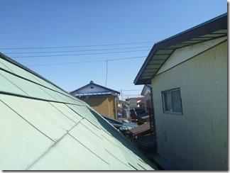 加須市土手M様 東京スカイツリー方向の景色(完了)。