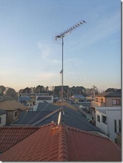 伊奈町学園S様 アンテナ工事完了。