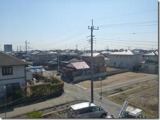 鴻巣市中井M様 東京スカイツリー方向の景色(完了)。