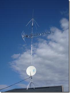 鴻巣市松原S様 アンテナ工事完了。