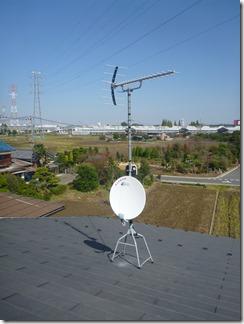 久喜市北広島N様 アンテナ工事完了。