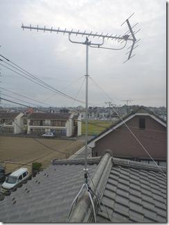 行田市緑町K様 アンテナ工事完了。