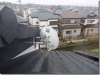 熊谷市佐谷田Y様 アンテナ工事完了(BS)。