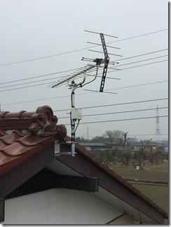 熊谷市上奈良H様 アンテナ工事完了。