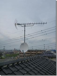 鴻巣市下忍N様 アンテナ工事完了。