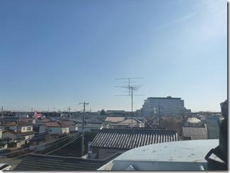 上尾市向山O様 東京スカイツリー方向の景色。