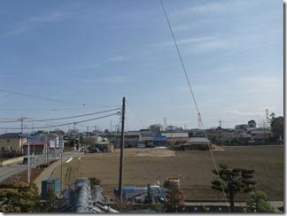 鴻巣市屈巣K様 東京スカイツリー方向の景色(完了)。