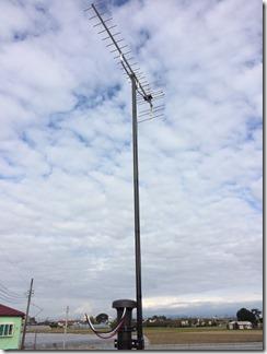 羽生市須影H様 アンテナ工事完了。