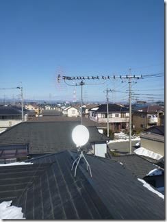 熊谷市玉井T様 アンテナ工事完了。