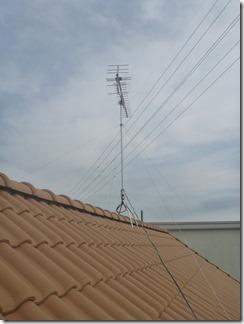久喜市西大輪K様 アンテナ工事完了。
