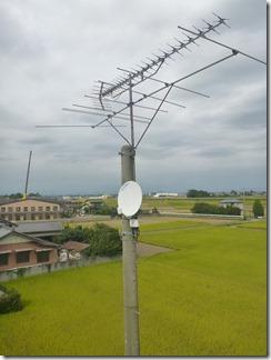 行田市真名板O様 アンテナ工事完了。
