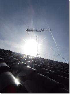 深谷市栄町G様 アンテナ工事完了。