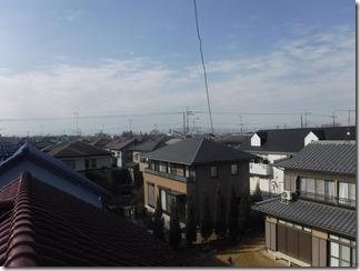 深谷市栄町G様 前橋局方向の景色(完了)。
