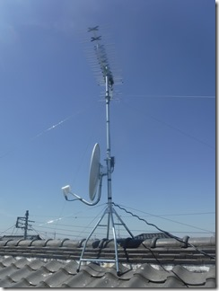 深谷市永田K様 アンテナ工事完了。