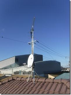 鴻巣市ひばり野K様 アンテナ工事完了。