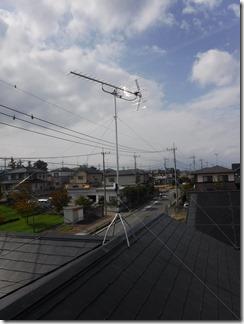 熊谷市船木台W様 アンテナ工事完了。