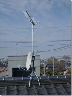 北本市東間Y樣 アンテナ工事完了。