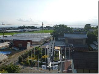 鴻巣市北根Y様 児玉局方向の景色(完了)。