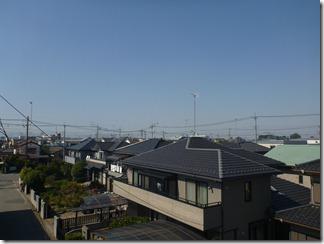 行田市長野M様 児玉局方向の景色(完了)。