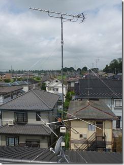 久喜市鷲宮中央S様 アンテナ工事完了。