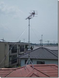 桶川市下日出谷T様 アンテナ工事完了。