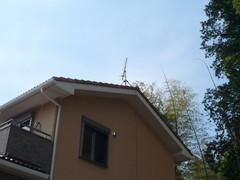 滑川で屋根上の仮設アンテナ。.jpg
