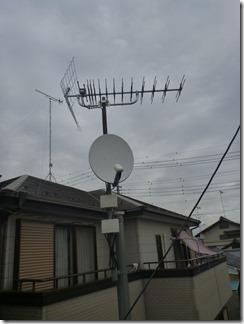 熊谷市上川上H樣 アンテナ工事完了。