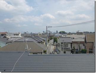 桶川市東N様 東京タワー方向の景色。