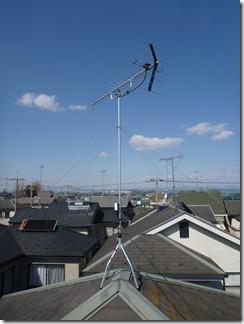 羽生市東O樣 アンテナ工事完了。